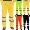 Waterproof Rain Over Trousers High Vis Visibility Mens Elasticated Pants Size#