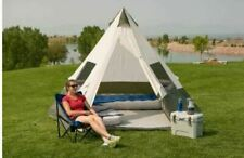 Ozark Trail 7-Person Teepee Tent NO CENTER POLE OBSTRUCTION 12' x 12' BASE