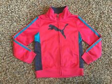 Puma Toddler Girls Athletic Jacket Sz 4T Full Zip Pink