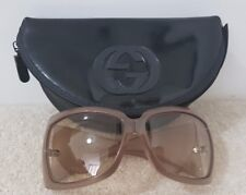 Lovely Genuine Vintage Ladies Gucci Sunglasses Golden Beige With Case