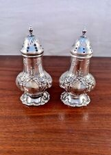 REED & BARTON STERLING SILVER SALT & PEPPER SHAKERS FRANCIS I - NO MONOGRAM 201G