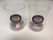 Set of 2 Dave And Busters Multi Color Flashing LED Light Up Drinking Glasses
