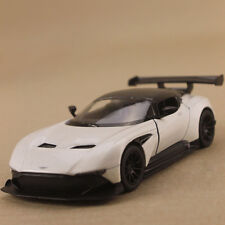 2015 Model Car Aston Martin Vulcan White 13cm SCALE 1:38 PullBack Die Cast Opens