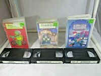 Franklin VHS x 3 Bulk Buy Franklin Rides a Bike, Wants A Pet & The Green Knight