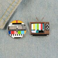 Rainbow LGBT Old-school TV Screen Enamel Collar Pin Brooch Breastpin Jewellery