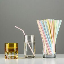 100Pcs DIY Convenient Straws Bendable Double Elbow Party Straw Drinking Tube