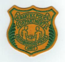 VINTAGE ALBANY, NYPD (NEIGHBORHOOD POLICE UNIT)(EMBROIDERED ON WOOL/FELT) patch