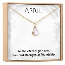 April Birthstone / Diamond Crystal Charm Necklace