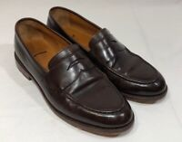 J Crew Ludlow Penny Loafers Mens Size 10.5 D Dark Brown Leather Shoes