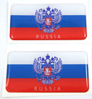 "Russia Russian flag domed decal 3D sticker emblem 2.6"" set of 1 or 2"