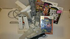 Wii White Console Complete working System Bundle with Games Excellent condition