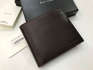 PAUL SMITH WINE RED Hand Burnished BILFOLD WALLET Made in Spain