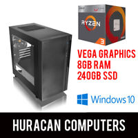 NEW AMD Ryzen Gaming PC | Vega Graphics | 8GB DDR4 | 240GB SSD | Win10 Desktop