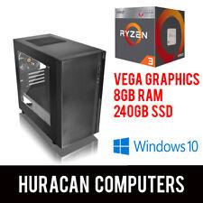NEW AMD Ryzen Gaming PC | Vega Graphics | 8GB DDR4 | 240GB SSD | Win10 Desktop