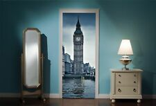 Door Mural Big Ben London View Wall Stickers Decal Wallpaper 1