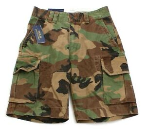 Polo Ralph Lauren Green & Brown Camouflage Cargo Shorts Camo  Men's NWT
