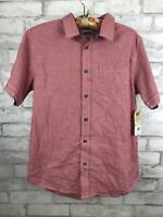 Wrangler Boys  Button-up Short Sleeve Western Shirt Red Plaid XXL (18) NWT