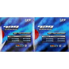 2x RITC 729 SUPER FX-729 GuoYuehua Pips-In Rubber 2.2mm 1 red +1 black