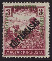 1918-19 HUNGARY 3F NEWSPAPER STAMP OverPrinted 'KOZTARSASAG'