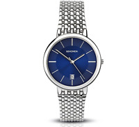 SEKONDA Unisex-Adult Analogue Quartz Watch with Stainless Steel Strap- 1387.27 #
