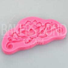 Baroque Vintage Flower Burst Silicone Mould Cake Fondant Sugarcraft Topper