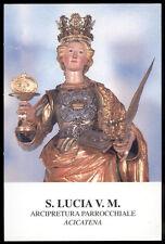"""santino-holy card""""S.LUCIA V.M.-ACICATENA"""