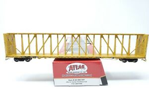 Atlas Master Line 73' Center Partition Car TTZX Yellow HO Scale #857090 NEW