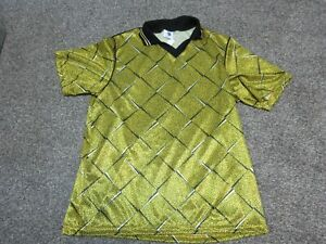 NEW OLD STOCK Vintage 90s HIGH 5 Adult Large L Yellow Soccer Jersey Made In USA