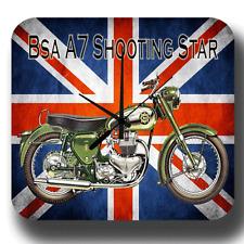 BSA a7 scatto starmotorcycle Vintage Garage Officina Tin Sign Stile Orologio da parete