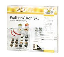 Birkmann Pralinen + Konfekt Set: 3 Gabeln Abtropfgitter 4 Ausstecher Rezeptheft