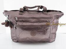NWT Kipling SL4831 ISAAC Extra Large Tote Bag Polyamide Popping Purple Metallic