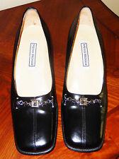 SERGIO ROSSI Italian Shoes Black Leather Pumps Heels IT 39 / 8 NIB