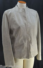 Alfani leather light Jacket  moto zip up Coat reptile croc texture top M worn 1x