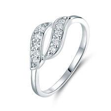 Cloud Breeze Hollow Flame Diamond Silver 18K White Gold Filled Women Lady Rings