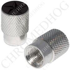 Silver Billet Aluminum Custom Valve Caps for Motorcycle Cars - Nautical Star BG