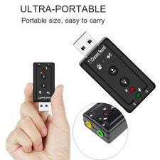 Desktop Notebook External Sound Card 7.1 Channel Audio Adapter 3D Stereo