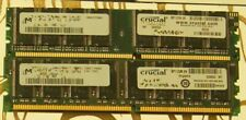 4GB (4 x 1GB) PC3200U DDR 400 CL3 CT12864Z40B Crucial Desktop Memory RAM 184 Pin