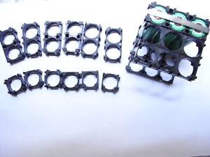18 distanziatori/distanziali/spacer abs 18650 serie,componibili + 30 cm nickel