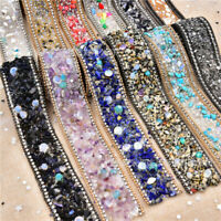 1 Roll 50CM Bling Crystal Ribbon Wedding Dress Shoes Bags DIY Craft Sewing Trims