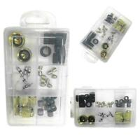 JW_ Refrigerant Charging Hose Repair Kit Caps Core Tool + 1/4 & 3/8 Gaskets HV