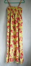 Maxi Dress 12 Yellow Pink Red