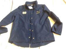 Puma Clyde jacket with detachable hood men's size medium blue