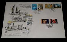 U.N. 1996, DEFINITIVE ISSUE, SINGLES ON LARGE FDC, 3 OFFICES,NICE! LQQK!