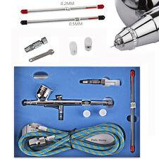 7cc Airbrush Spray Gun Dual Action Paint Art Cake Craft Air Brush Hose Kit New