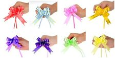 50 Large Pull Bow Ribbons All Mix Colours decoration PARTY BIRTHDAY GIFT WRAP