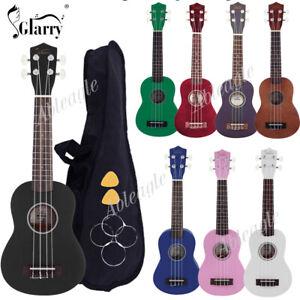 """Glarry 21"""" 23"""" 26"""" In Soprano Concert Tenor Ukulele Uke w/Bag Pick Strings"""