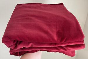 "2 IKEA Sanela Velvet Curtains Panels Burgundy Red 55"" x 98"" (1 Pair)"