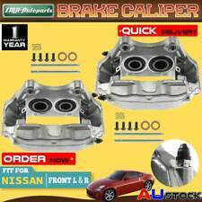 2x Front Left Right Brake Calipers w/ 4-Piston for Nissan 350Z Z33 03-2009 3.5L