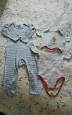 Lot 3 Bodys bodie dont 1 long rayé 3 ans 36 mois disney -TeX baby et 1 sans marq