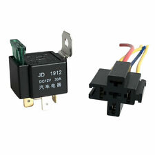 12V Relay Automotive Fused Electronic Fuses ON/OFF Holder 30A 4-Pin With Socket